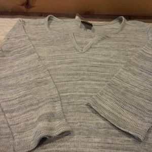 Stripped  Gray Thermal Top